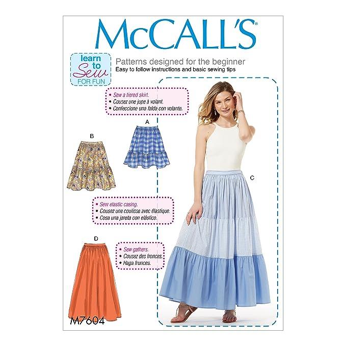 McCall \'s Patterns 7604 ZZ damenröcke, Mehrfarbige, große/2 x große ...