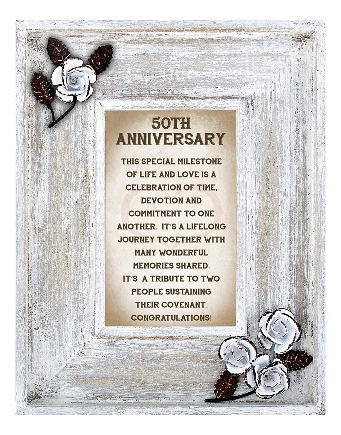 LoveLea Down Home Collection Tabletop Frame, 25th Anniversary CB Gift -Parent