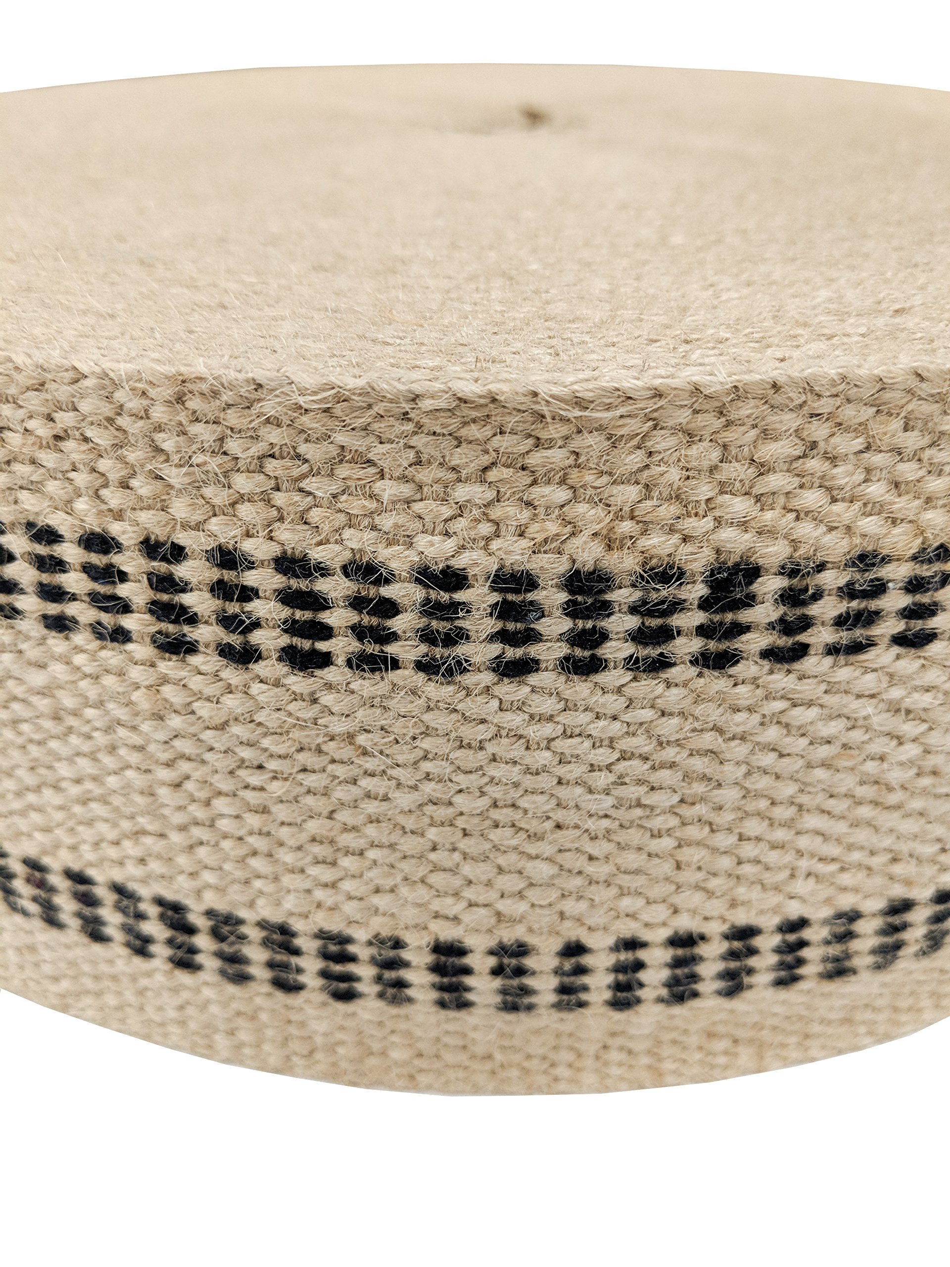 Wholesale Upholstery Supply 72 YDS Upholstery or Craft Jute Webbing, 3.5'' x 72 Yds - Natural with Black Stripes by Wholesale Upholstery Supply (Image #2)