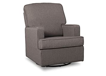 Delta Children Henry Nursery Glider Swivel Rocker Chair, French Grey