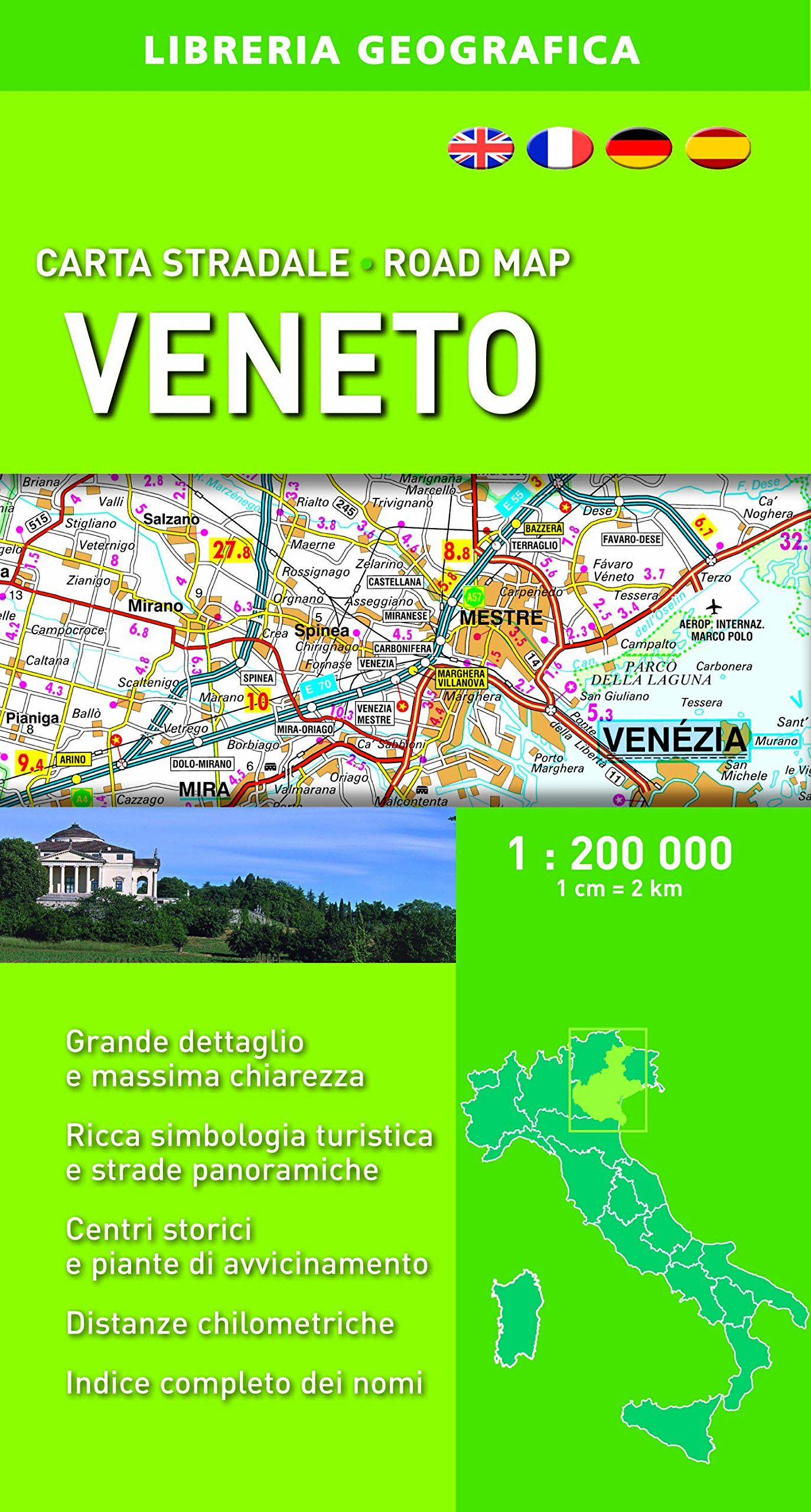 Cartina Stradale Veneto Trentino.Amazon It Carta Stradale Veneto 1 200 000 Aa Vv Libri