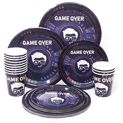Amazon Com Video Game Party Supply Set Gaming Party Plates And