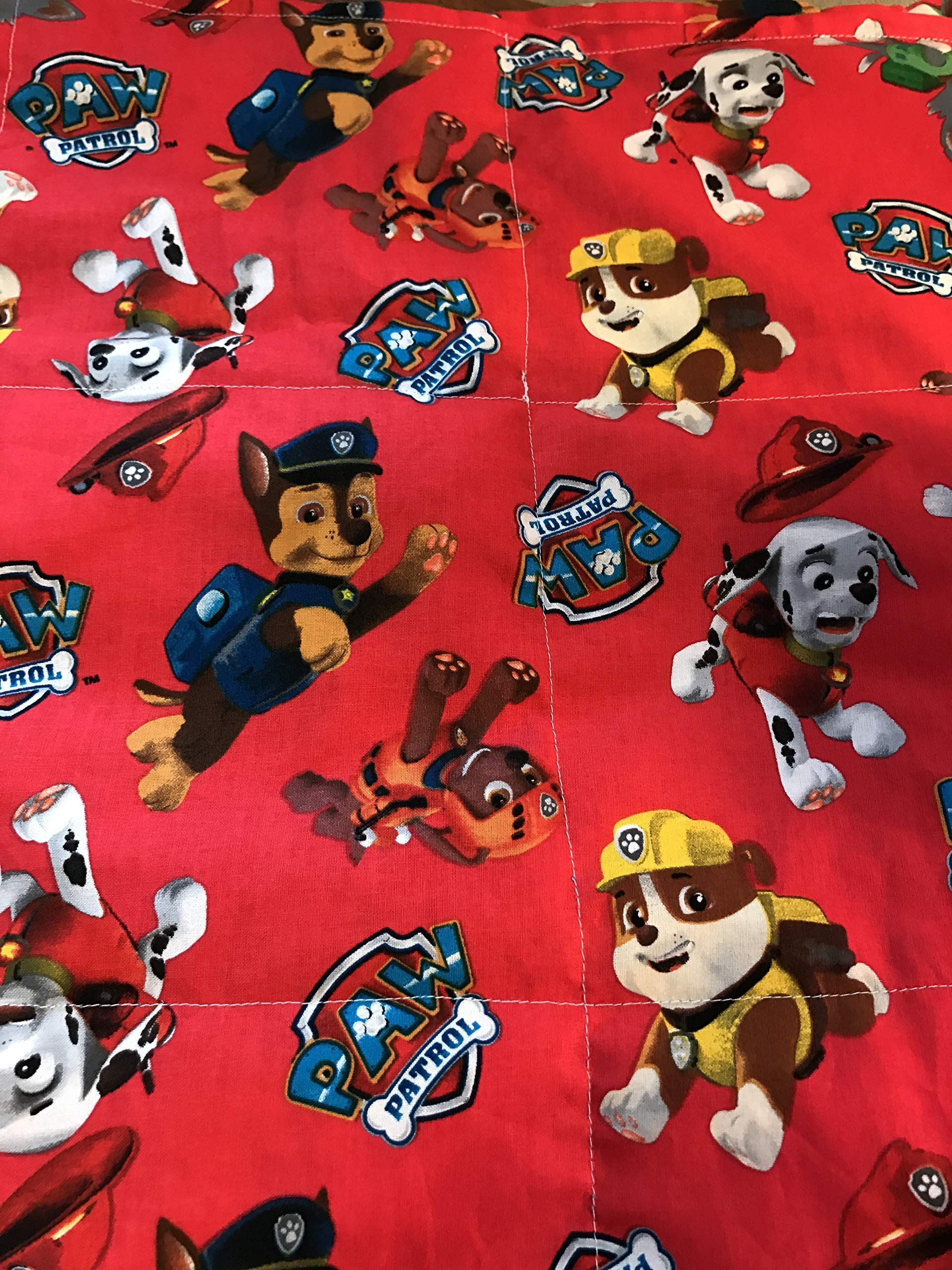 Weighted blanket toddler size, paw patrol, ready to ship,3 or 3 1/2 lbs, washable