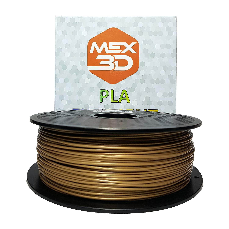 MEX3D PLA-Filament, 1,75 mm, Gelb, 1 kg Spule/Rolle, Kunststoffmaterial fü r 3D-Drucker / 3D-Stift, Vakuumverpackt IMEXS electronic