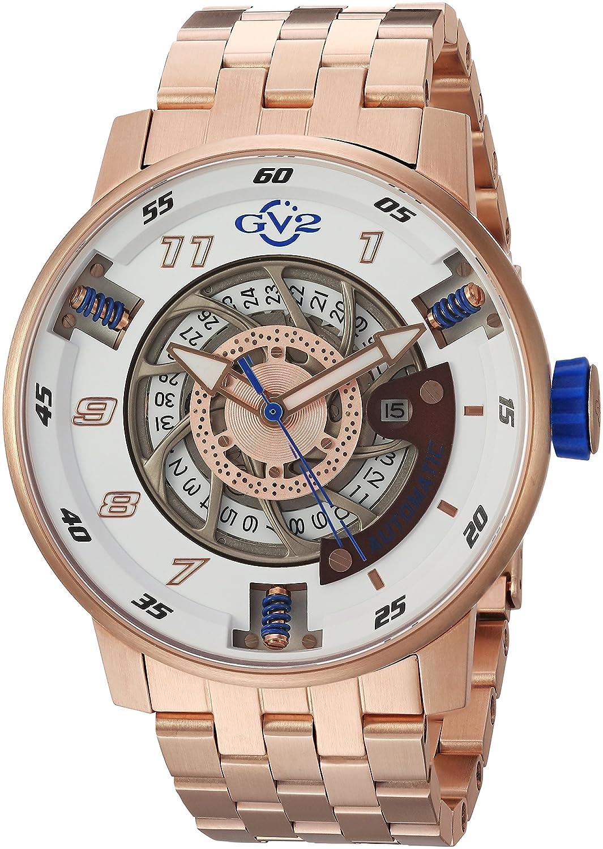 gv2 by Gevrilオートバイスポーツメンズ自動ローズゴールドトーンステンレススチール時計、スイス(モデル: 1302b ) B0178MDNVK