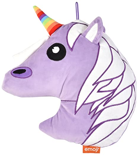 Innova ediciones Emoji Unicorn 30 cm Funda para cojín, Tela ...