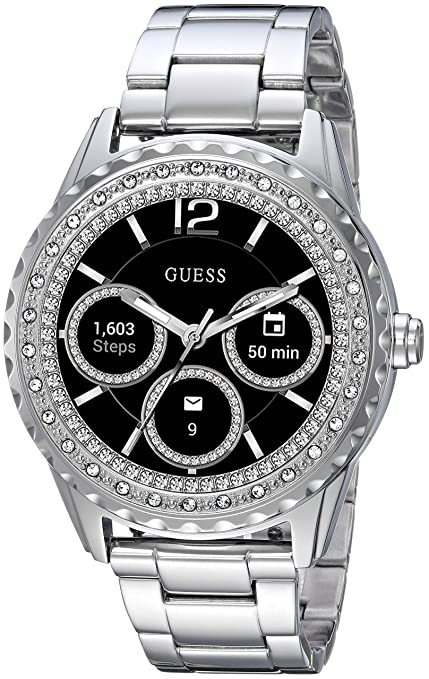 Amazon.com: GUESS Womens Connect Androidwear Quartz Watch with Stainless-Steel Strap, Rose Gold, 10 (Model: C1003L4: Watches