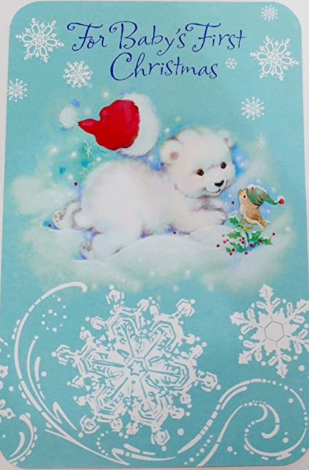 Amazon Com For Baby S First Christmas Greeting Card It S Your