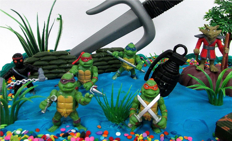Amazon.com: Teenage Mutant Ninja Turtles 17 Piece Birthday Cake ...