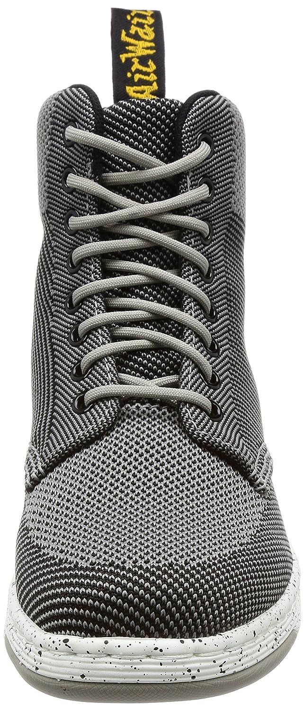 Dr.Martens Damenschuhe Rigal Knit Textile Grau Stiefel Mid Grau Textile Knit 930600