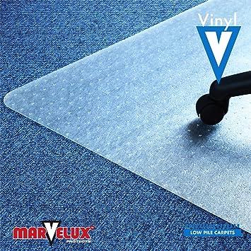 PVC Marvelux Tapis de Chaise rectangulaire en Vinyle pour moquettes /à Poils tr/ès Bas 120 x 150 cm