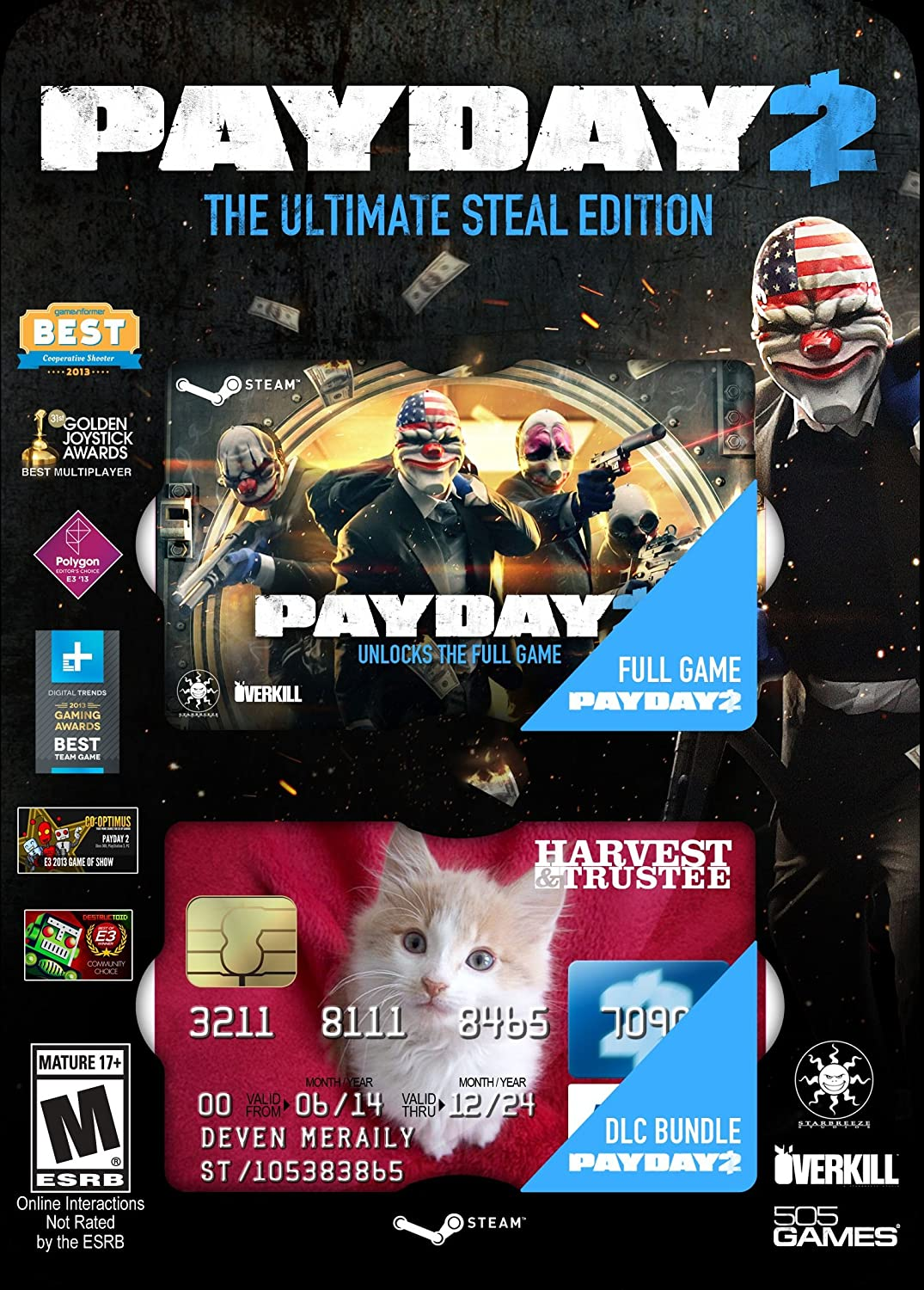Payday 2: Ultimate Steal Pack - PC by 505 Games: Amazon.es ...