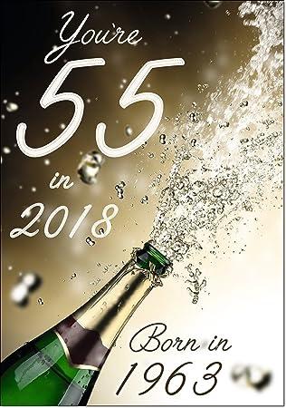 Doodlecards 55 In 2018 Year Born Age Birthday Card