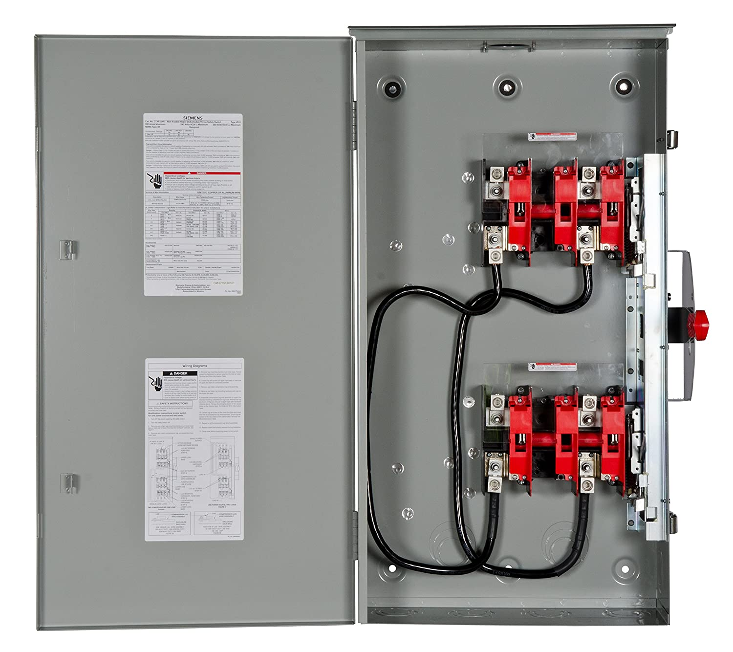 Double Throw Transfer Switch Wiring Diagram Library Pole Siemens Dtnf224r 200 Amp 2 240 Volt 2w Non