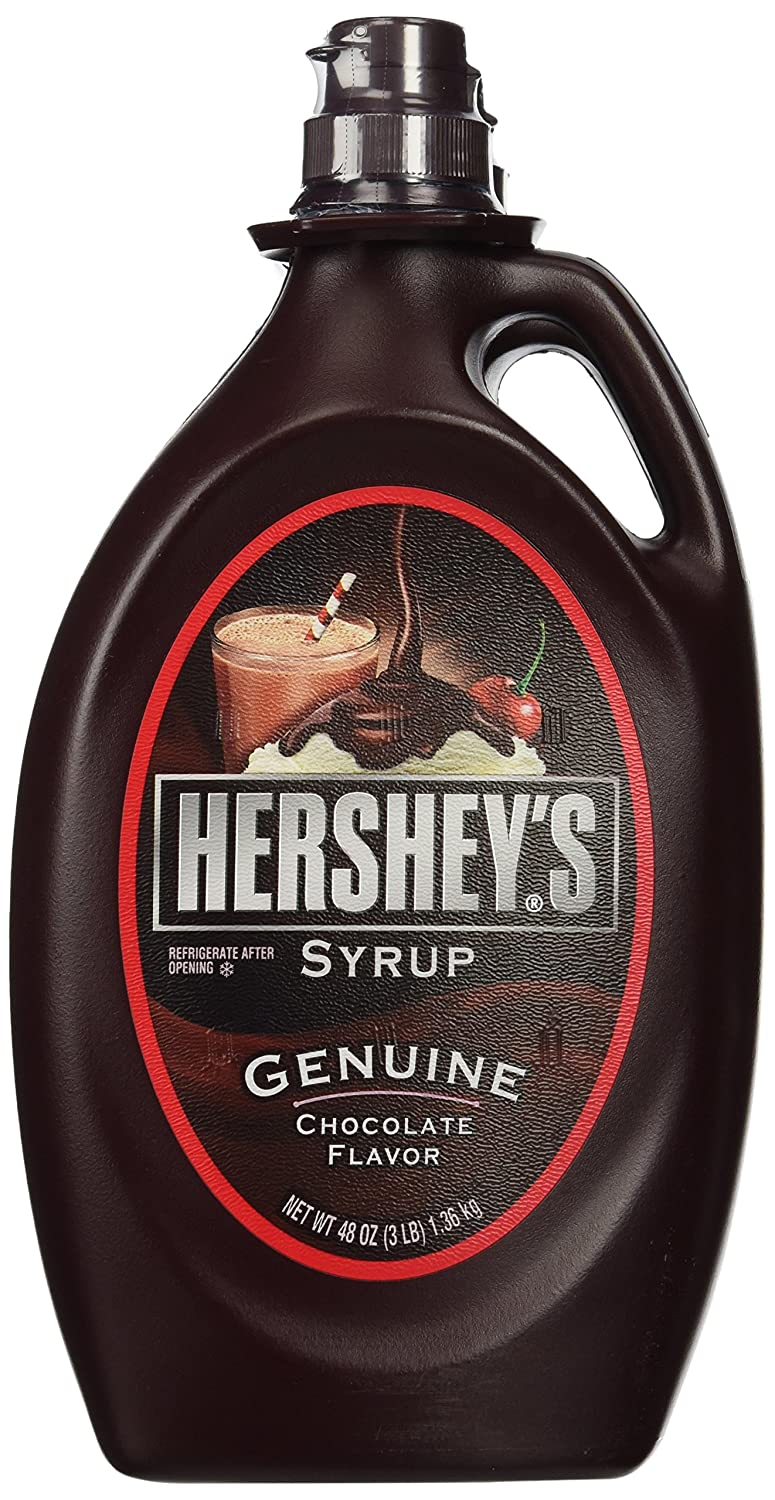 Amazon.com : Hershy's Chocolate Syrup, 2 / 48 oz. bottles ...