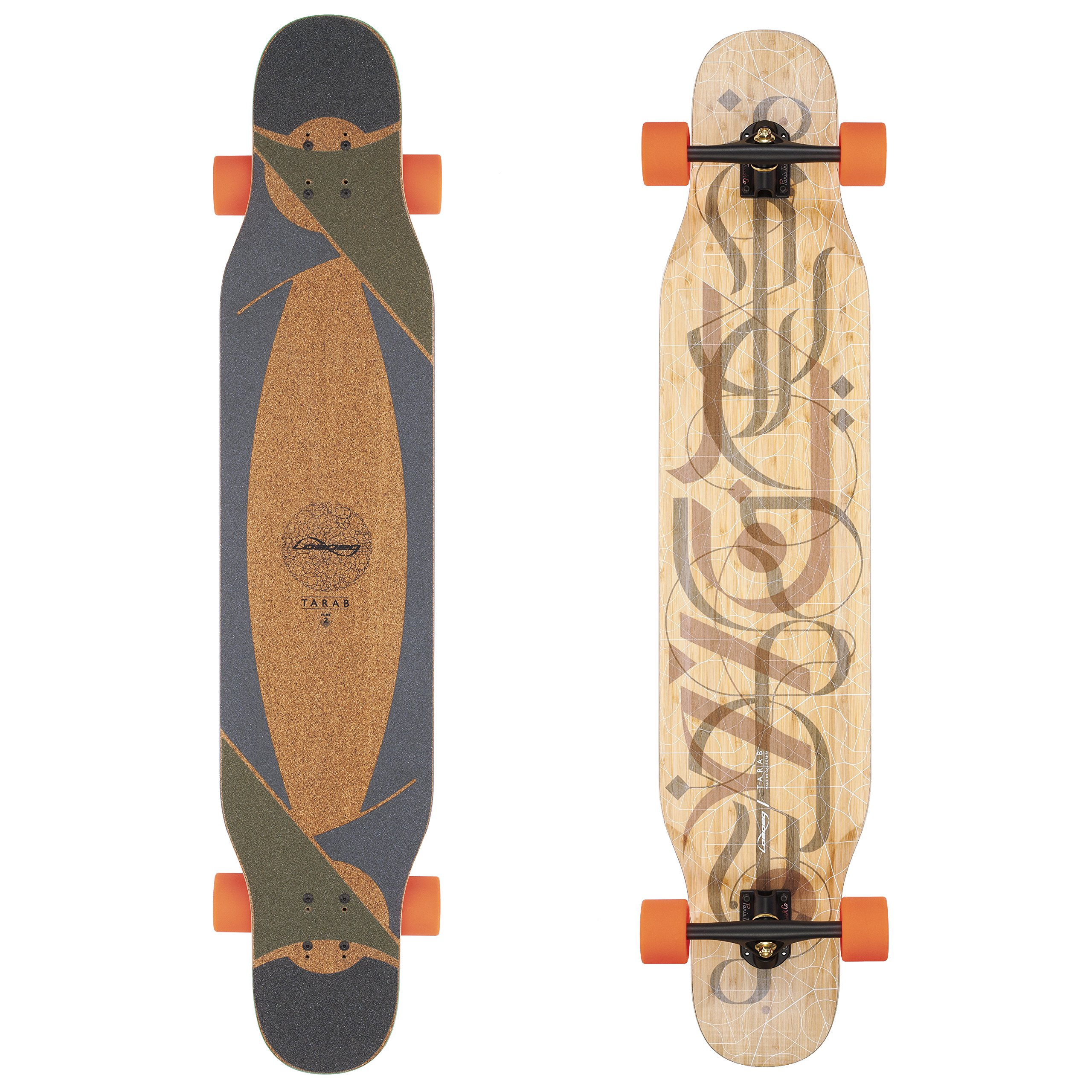 Loaded Boards Tarab Bamboo Longboard Skateboard Complete (80a Stimulus, Flex 1)