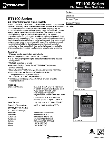 91bq64VPuVL._SY550_ intermatic et1105c 24 hour electronic time switch wall timer  at aneh.co