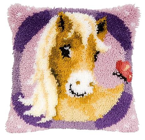 Vervanco - Cojín Tejido (Pintado a Mano, 40 x 40 cm), diseño de Animales