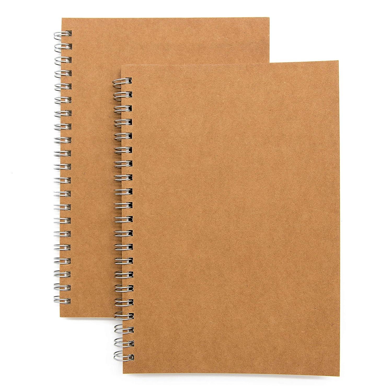 Amazon.com: Cuaderno de espiral de tapa blanda, 2 unidades ...