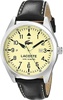 Lacoste Mens 2010782 Montreal Analog Display Japanese Quartz Black Watch