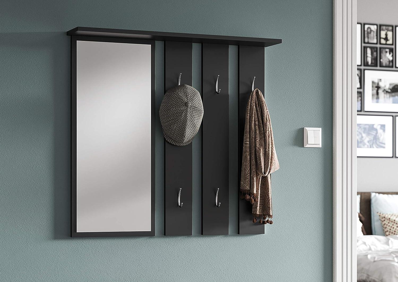 Set di mobili per corridoio ingresso scarpiera specchio appeso appendiabiti cassapanca opale 85x40x160 White
