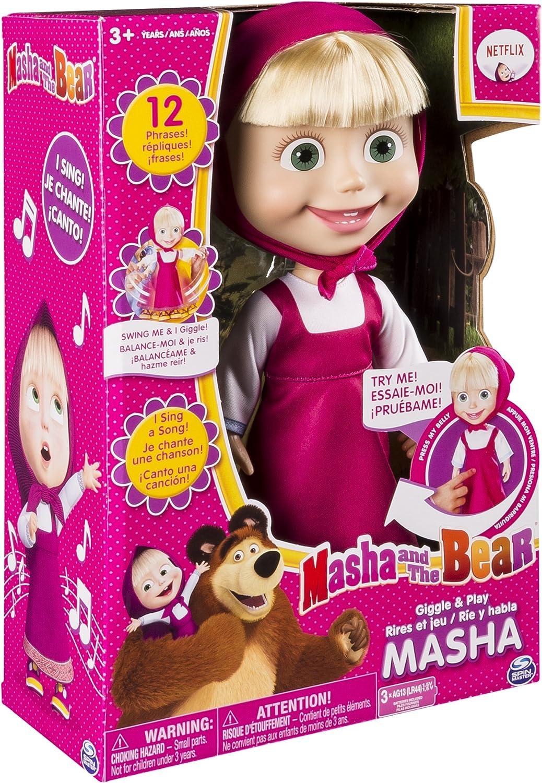 Masha Y El Oso Muñeca Interactiva De Masha De 12 Pulgadas Se Ríe Y Habla Toys Games