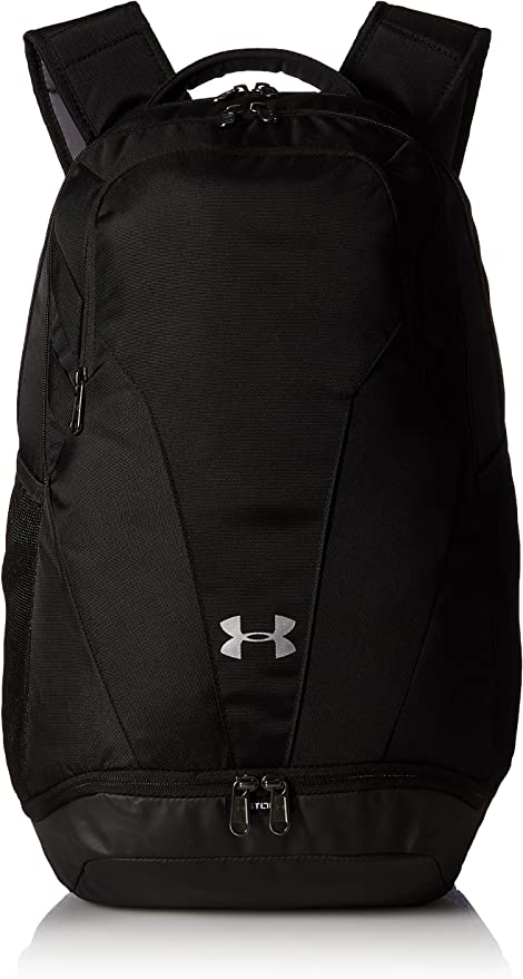 Amazon.com: Under Armour Team Hustle 3.0 Backpack, Black//Silver, One Size Fits All: Clothing