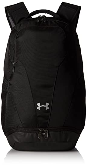 6b308ff4ab Under Armour Team Hustle 3.0 Backpack, Black//Silver, One Size Fits All