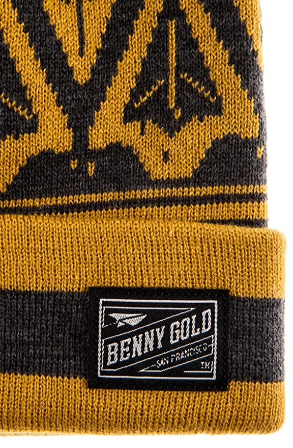 85d253fa2950d Benny Gold Men s Ikat Pom Pom Beanie One Size Charcoal at Amazon Men s  Clothing store