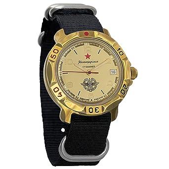 583d7df9ce05 Vostok Komandirskie Russian Signal Corps Army Mechanical Mens Military  Commander Wrist Watch  819451 (Black