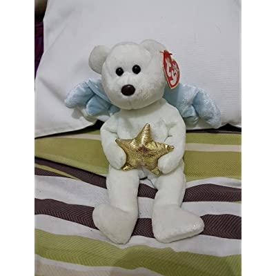 TY Beanie Baby - STAR the Angel Bear (Holding Gold Star): Toys & Games
