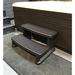 Grey Sunbeach Spas Super Wide Spa /& Hot Tub Non Slip Rubber Tread Steps