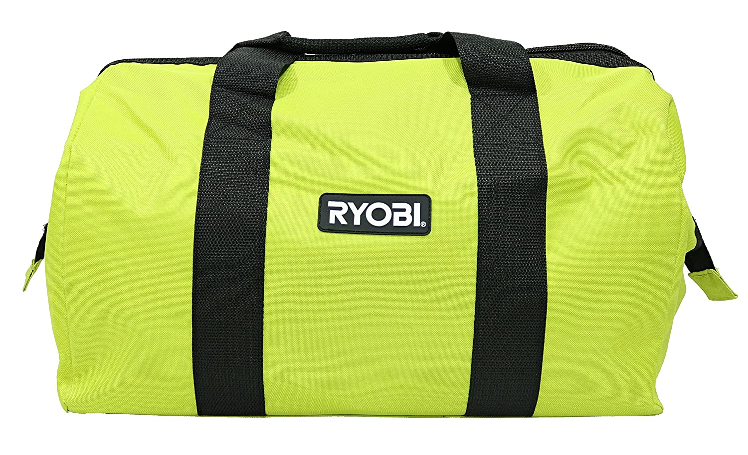 Ryobi Green Wide Mouth Collapsible Genuine OEM Contractor's Bag w/ Full Top Single Zipper Action and Cross X Stitching