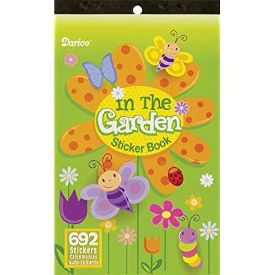 "Sticker Book 9-1/2\""X6\""-In The Garden-692 Stickers: Arts, Crafts & Sewing [5Bkhe1611218]"