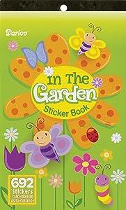 """Sticker Book 9-1/2""""X6""""-In The Garden-692 Stickers"""