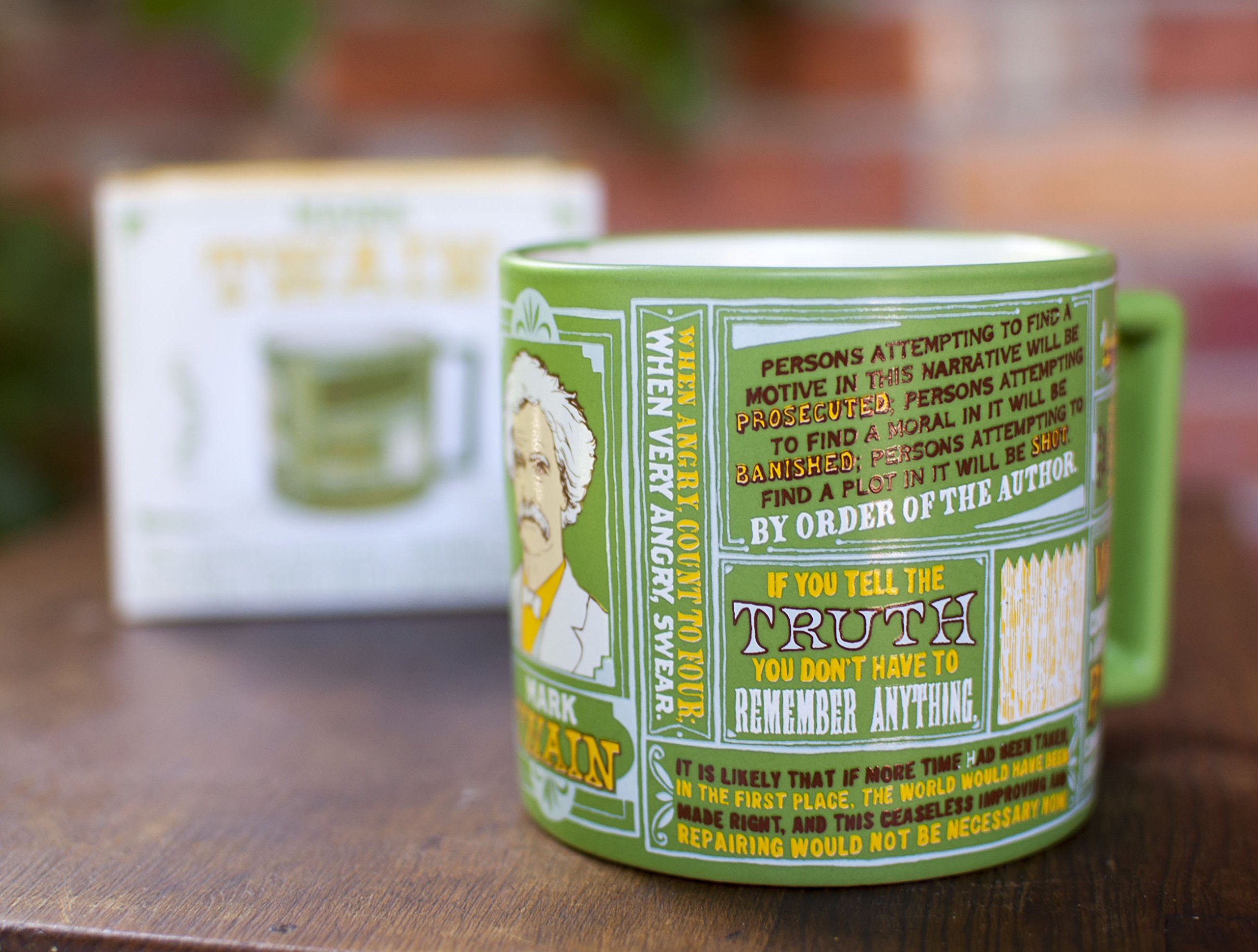 Mark Twain Coffee Mug - Twain's Most Famous Quotes and Depictions - Comes in a Fun Gift Box by The Unemployed Philosophers Guild (Image #6)