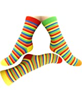 Loonysocks, 3 Pair of Colorful Cotton Rich Women/ Ladies & Girl Multicolor Socks, Size UK 3-6 EU 35/39