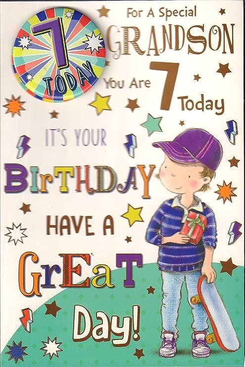 Tarjeta de cumpleaños para nieto con texto en inglés «For A ...
