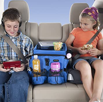 high road kids food n fun car seat organizer with cooler and snack tray