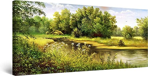 Startonight Canvas Wall Art Country Landscape Lake