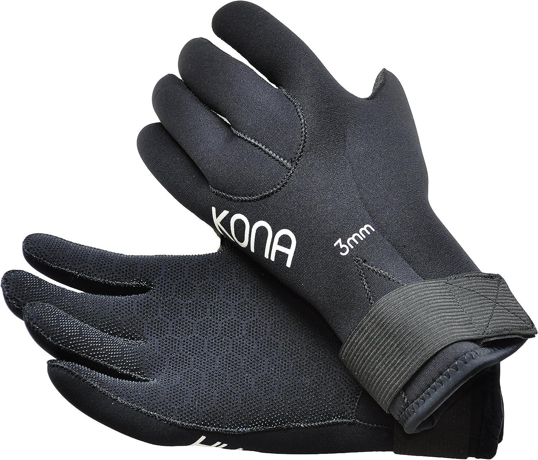 Kona 3mm Premium Double-Lined Neoprene Scuba Diving Gloves with Pentagrip Technology