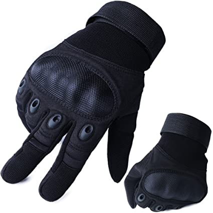 8a816092156c Tactical Gloves Military Hard Knuckle Motorcycle Gloves Motorbike ATV  Riding Full Finger Gloves for Men Fit for Cycling Hiking Camping Airsoft ...