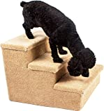 Penn Plax 3 Step Carpeted Pet Stairs for Both