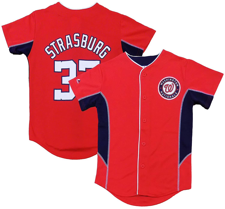 new style 53fdd 416e2 Amazon.com: Stephen Strasburg Washington Nationals Red Kids ...