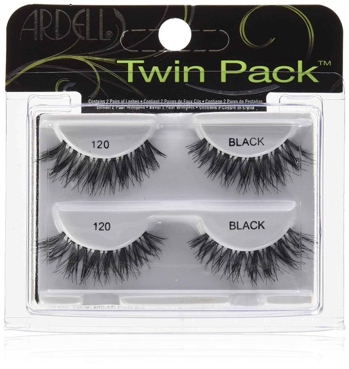 eea4897ee36 ARDELL - the original Twin Pack Lash 120 black, 2 pairs: Amazon.co.uk:  Beauty