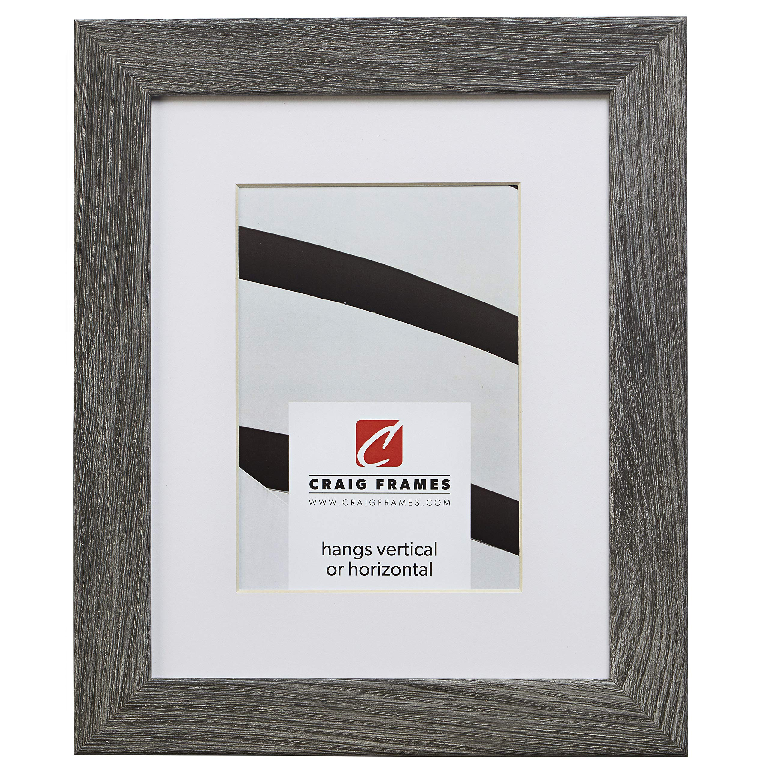 Craig Frames 26030 24 x 36 Inch Gray Barnwood Picture Frame Matted to Display a 20 x 30 Inch Photo