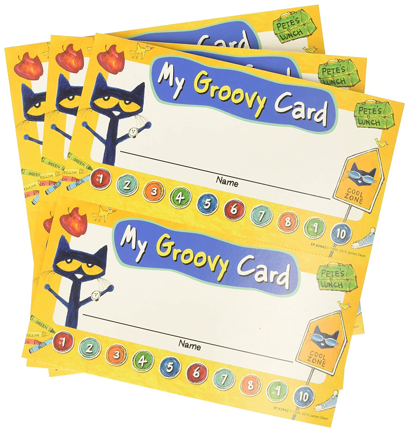 Pete The Cat My Groovy Punch Cards Teacher Created