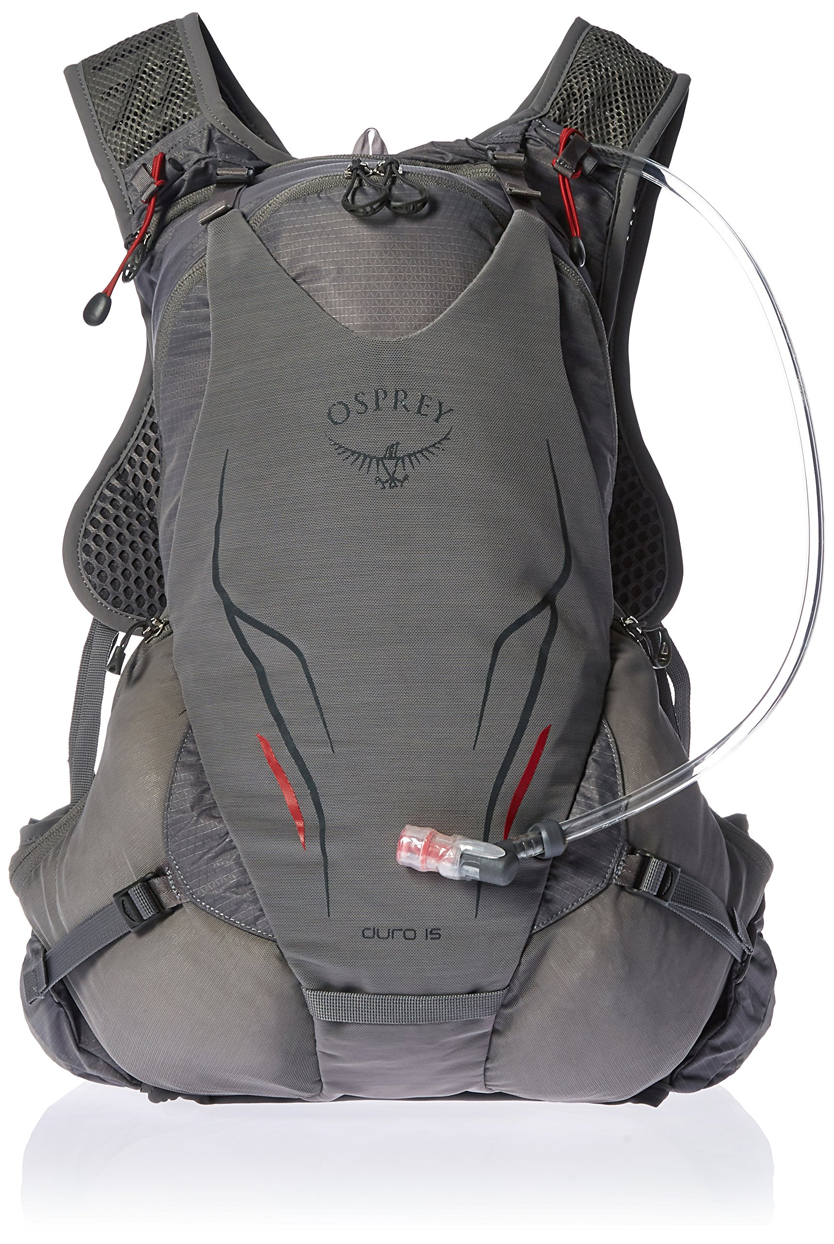 Osprey Packs Duro 15 Hydration Pack, Silver Squall, S/M, Small/Medium
