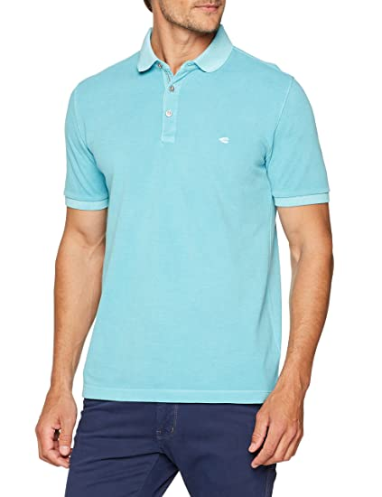 camel active 1/2, Polo Homme, Blau (Cyan 50), Large