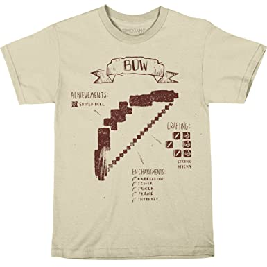 cffb6dd5d Amazon.com: JINX Minecraft Big Boys' Bow Diagram Premium Cotton T ...